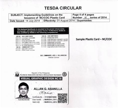 tesda certificates now come in ter proof cards tesda