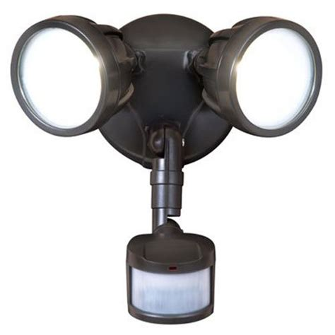 twin head outdoor light all pro outdoor security mst18r17l led twin head motion
