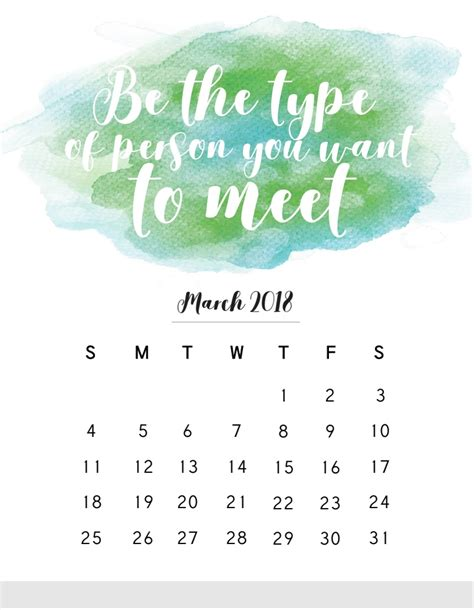 March Sayings For Calendars