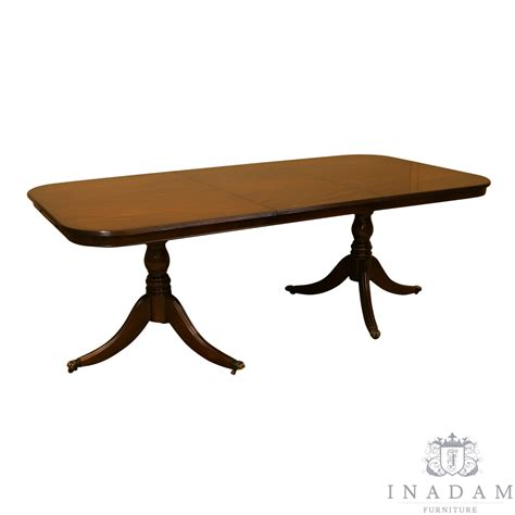 Yew Dining Table Inadam Furniture 6 6 Quot Pedestal Dining Table Mahogany Yew Reproduction Furniture