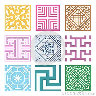 pattern symbols plaid symbol sets geometric pattern design korean