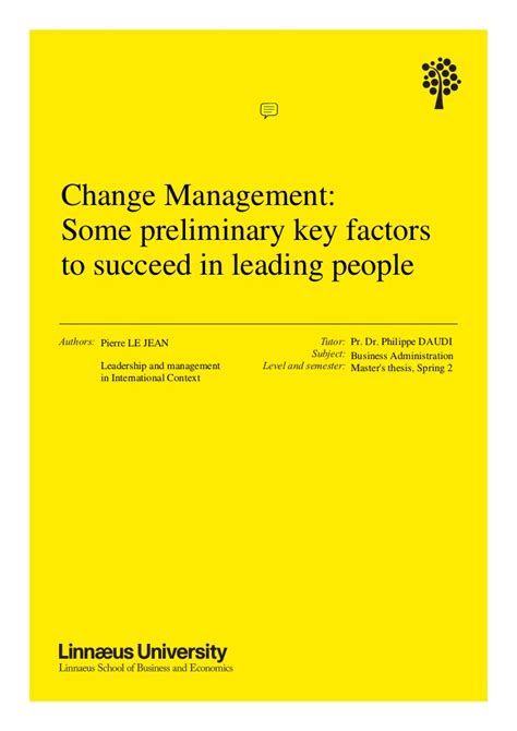 Mba Can Be A Changer by Mba Thesis On Change Management