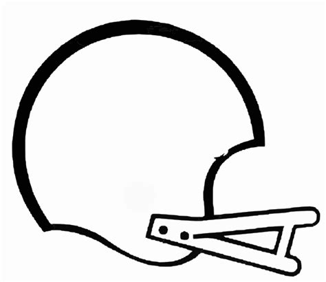Firefighter Helmet Outline by Vector Football Outline Clipart Best