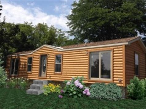Wide Log Cabin Mobile Homes by Wide Log Mobile Home Log Cabin Style Mobile Homes