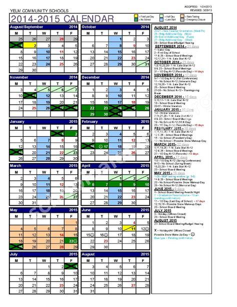 Org Calendar 2014 2015 Calendar Calendar Detail Schoolcalendars Org