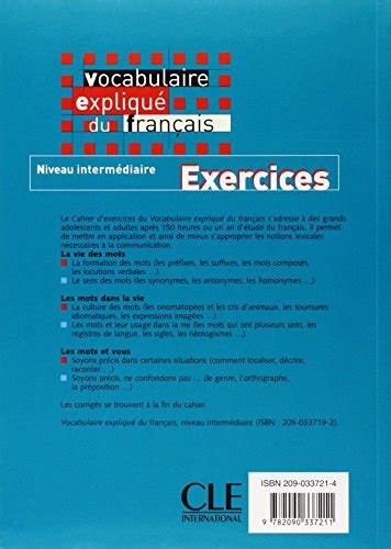 vocabulaire explique du francais libro vocabulaire expliqu 233 du francais niveau intermediaire exercices di nicole larger reine