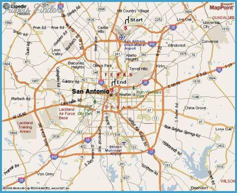 a map of san antonio texas san antonio map texas travelsfinders