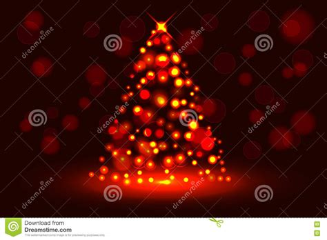 christmas tree circular christmas lights decoration