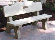 Memorial Concrete Benches by Benches W Backs M Archives Doty Concrete