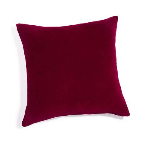 cuscini maison du monde cuscino in velluto rosso 45x45 cm maisons du monde