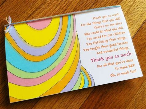 easy thank you card template kindergarten best 25 thank you notes ideas on