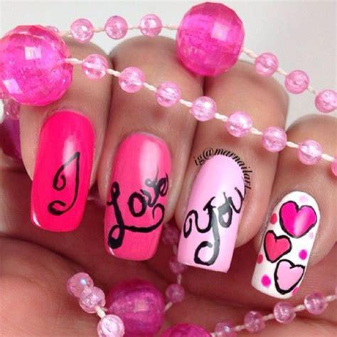 12 gorgeous valentines day nail ideas 2017 12 s 252 223 e ich liebe dich valentinstag nageldesign ideen