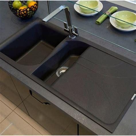 Reginox Ego 1 5 Bowl Black Granite Composite Kitchen