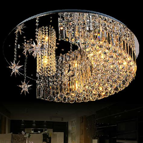 Free Shipping Luxury Modern Flush Mount Bedroom Led Flush Mount Chandelier Modern