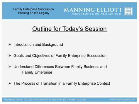 Rutgers Mba Information Session November 7 by Rick Gendemann Cpa Ca Family Enterprise Succession
