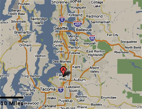 seattle map federal way sighting reports 2010