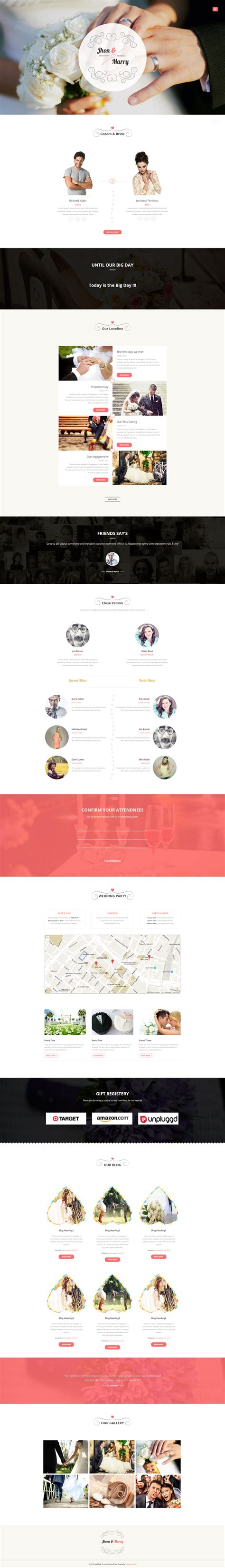 wedding day responsive wedding wordpress theme wp