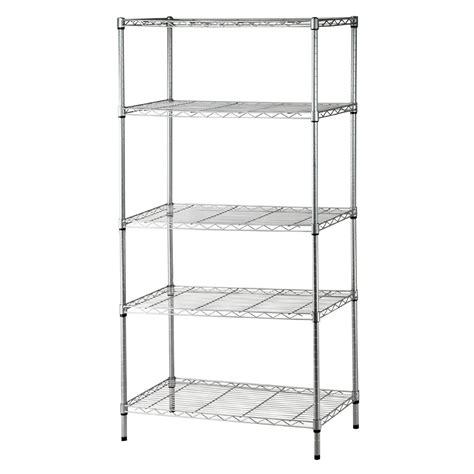 5 tier heavy duty steel wire rack shelf storage shelving