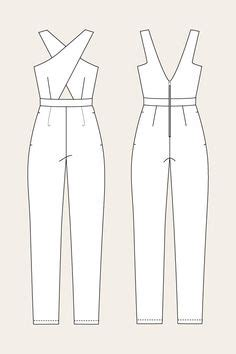 jumpsuit template free printable sewing patterns jumpsuits in 2