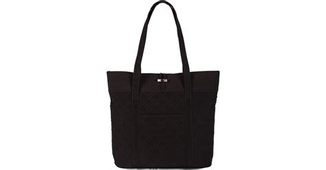Vera Bradley Black Quilted Tote by Vera Bradley Vera Quilted Tote Bag In Black Lyst