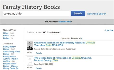 How To Search Records Free How To Find 4 Kinds Of Family History Books Free On