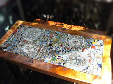 Mosaic Patio Table Top Wonderful Mosaic Patio Table Reclaimed Wood Mosaic Patio Table Abodeacious Backyard Remodel