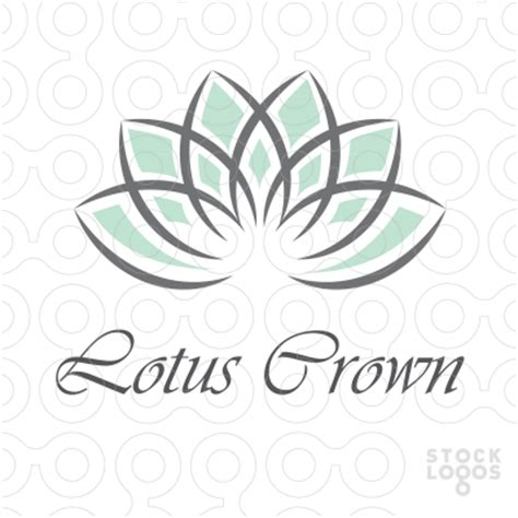 sold logo lotus crown stocklogos