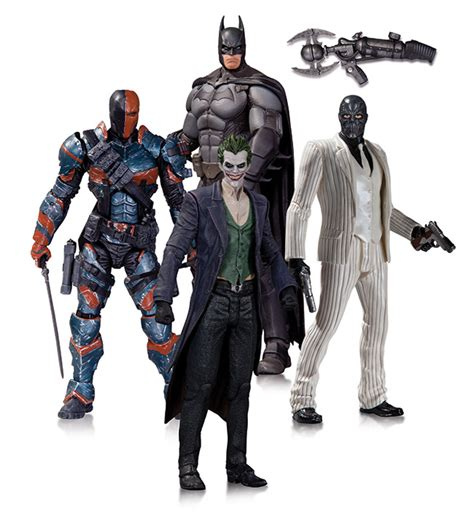 Mainan Figure Joker Batman Dc Origin Figure deathstroke raving maniac