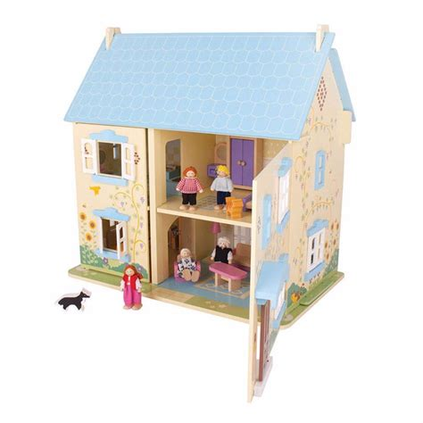 bigjigs dolls house furniture sunflower cottage dolls house with furniture and people bigjigs jt129