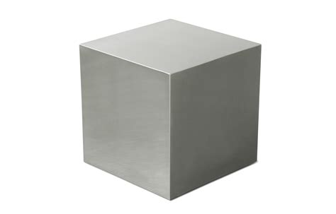 Superior White Dining Table #7: Stainless-steel-cube-end-table-base-3.jpg
