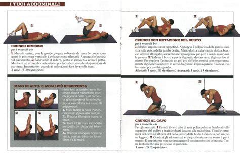 programma esercizi a casa allenamento addominali obliqui a casa allenamento