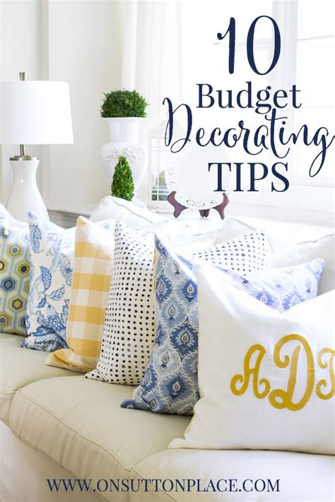 Budget Decorating Tips by 10 Budget Decorating Tips On Sutton Place