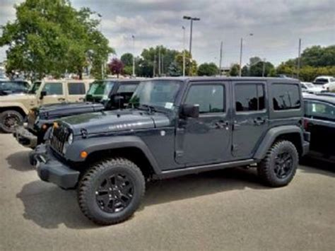 Jeep Wrangler Unlimited 2016 Jeep Wrangler Unlimited Grey Lease Busters
