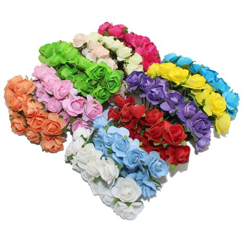 Artificial Paper Flower - aliexpress buy 144pcs one lot 1cm multicolor