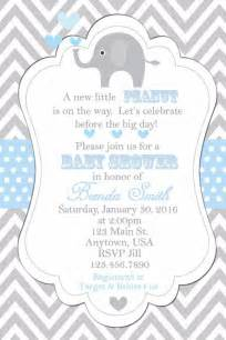 baby shower invitation elephants invitation baby shower