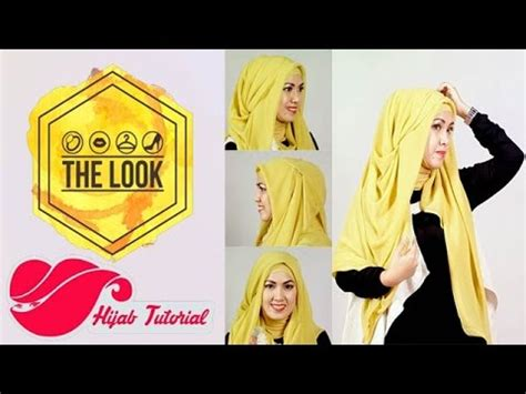 tutorial berhijab ala april jasmine the look hijab tutorial hijab ala april jasmine youtube