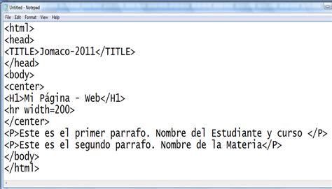 imagenes html ejemplos uso pedag 211 gico de las tic taller 1 html