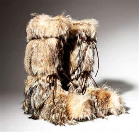 fur boots vintage boots fur boots