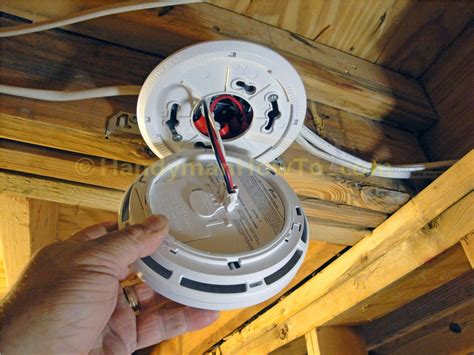 install smoke detector how to install a hardwired smoke alarm ac power and