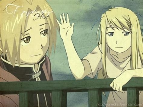fullmetal alchemist brotherhood edward and winry kiss edward elric and winry rockbell images i will always be