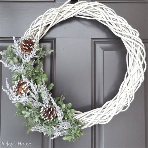 diy winter wreath puddys house
