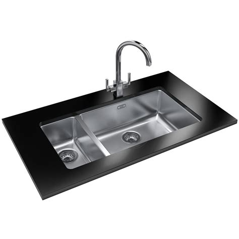 franke stainless steel sinks undermount franke kubus kbx 160 55 20 stainless steel 1 5 bowl