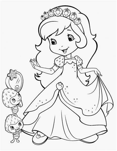 princess strawberry shortcake coloring pages