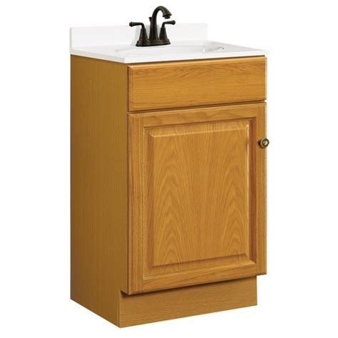 18 Vanity Cabinet design house 531970 claremont honey oak vanity cabinet with 1 door and 1 drawer 18 inches by 16