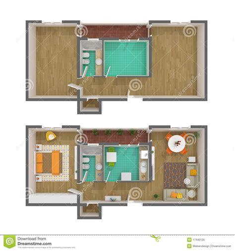 top view floor plan 3d floor plan stock image cartoondealer com 45834733