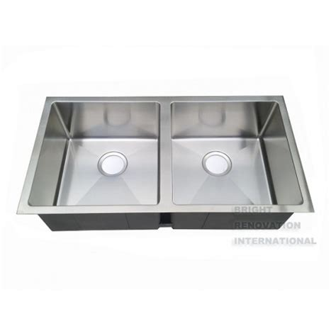 Corner Undermount Kitchen Sink Square Cube Corner Undermount Drop In Kitchen Sink Bowl 850x450x220