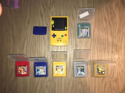 gameboy color pikachu edition limited edition boy color console pikachu edition
