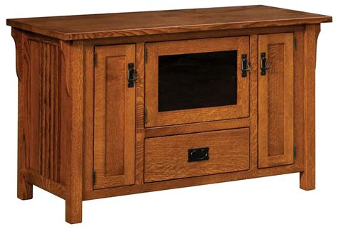 tv stands with cabinet doors amish camden solid wood mission tv stand media cabinet