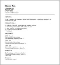 Exles Of A Resume by Administration Resume Exles And Tips