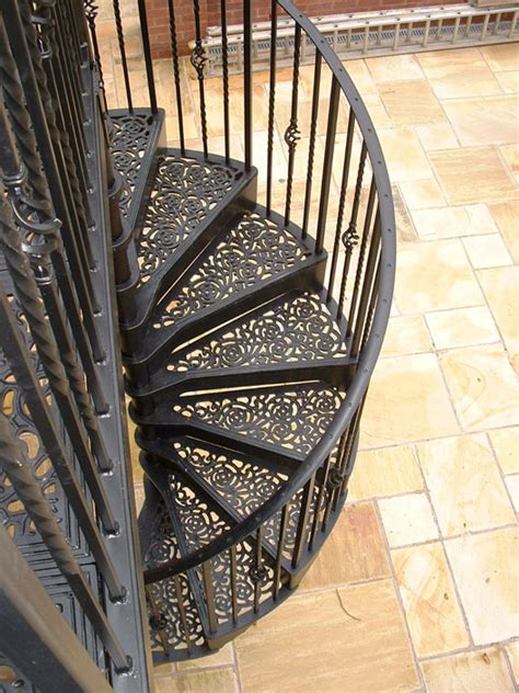 Outdoor Metal Handrails For Stairs Stairs Extraordinary Wrought Iron Spiral Staircase